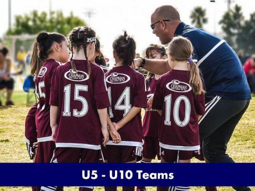 U5 – U10 Teams