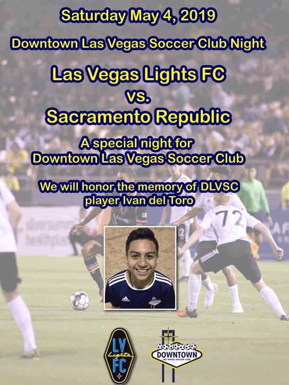 Downtown Las Vegas Soccer Night at the LV Lights Game @ Cashman Field