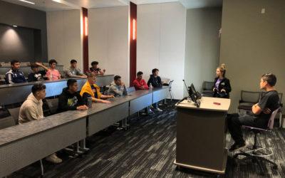 02 Gold Team Visits GCU During NLDC Play