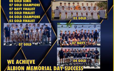 Albion Memorial Day Tournament Success